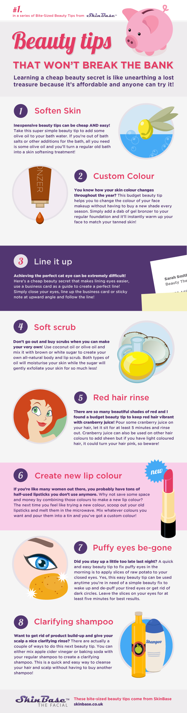 Beauty Tips that Won't Break the Bank [infographic]