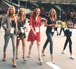 the models at the closing ceremony