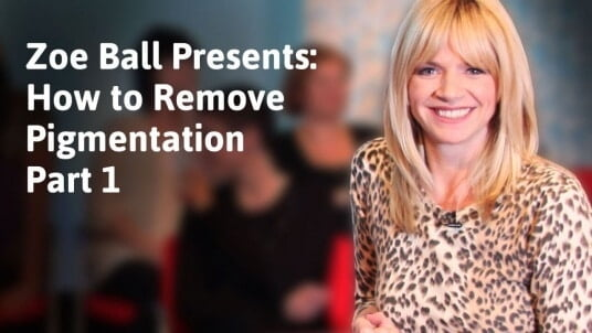 Zoe Ball presents: How to remove pigmentation 1