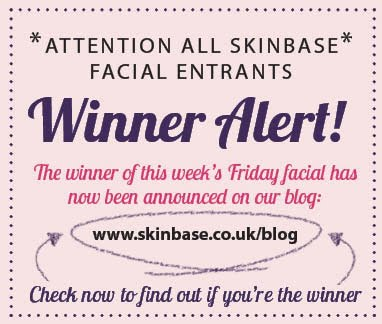 WINNER OF THE SKINBASE FREE FACIAL FRIDAY 3RD AUGUST – IS IT YOU?