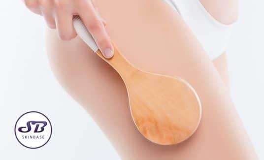 body brushing exfoliate